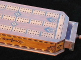 cribbage board made of Titanic Wood